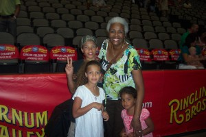 Me and my grandchildren at the circus. Fun!